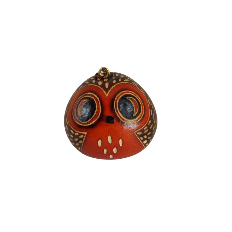 Deluxe Owl Handmade One Ornament Decoration - Peruvian Traditional Gourds