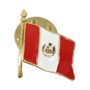 Peruvian Souvenir Unisex Gold Plated Lapel Pin