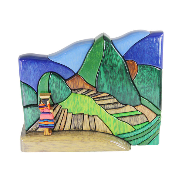 Cusco Macchu Picchu Reversible Handmade Woodwork Puzzle -  Symbol of Power & Strength - Peru Gift Shop