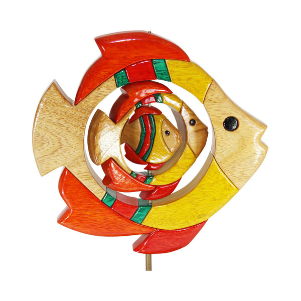 Sealife Fish Set  Reversible  Handmade Woodwork Puzzle - Symbol of Freedom - Peru Gift Shop