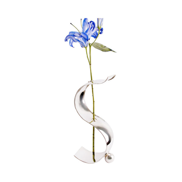 "Handmade Luxury Home Decor Silver Plated ""Organic"" Flower Vase"
