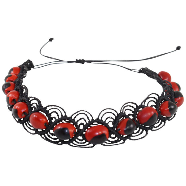 "Eco-friendly UNISEX Good Luck Chocker w/Meaningful Seed Beads 16"" -  20"""