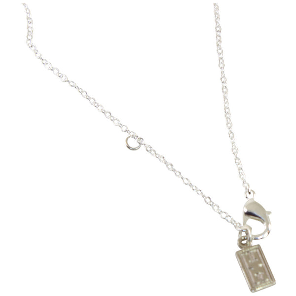 Assymetric Sterling Silver Good Luck Necklace