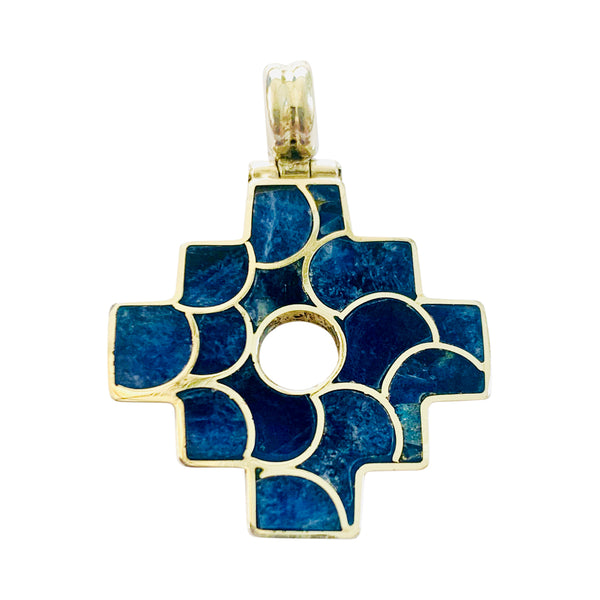 "Sterling Silver ""Inka Cross-Chakana"" Adjustable Meaningful Pendant"