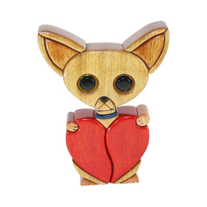 Chihuahua Reversible Handmade Woodwork Puzzle -  Symbol of Unconditional Love - Peru Gift Shop