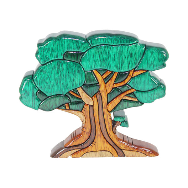 Very Old Oak Tree Reversible Handmade Woodworl Puzzle - Symbol of Strength - Peru Gift Shop