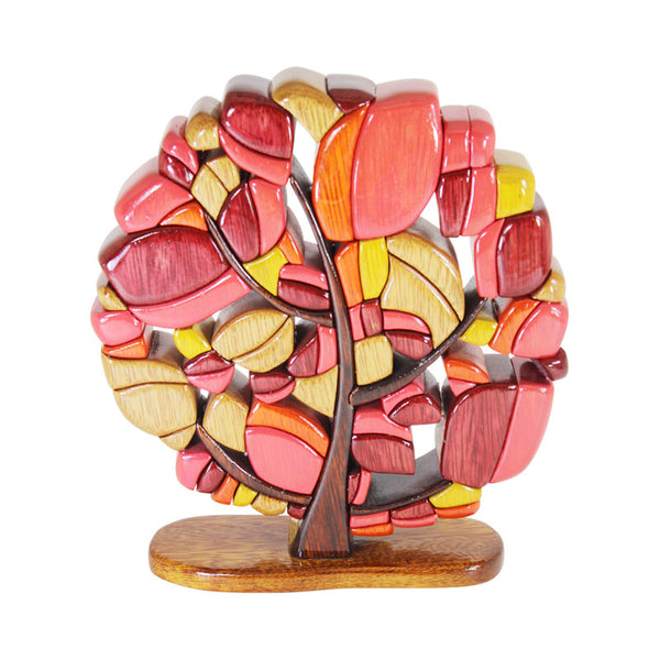 Fall Tree Reversible Handmade Woodworl Puzzle - Symbol of Strength - Peru Gift Shop