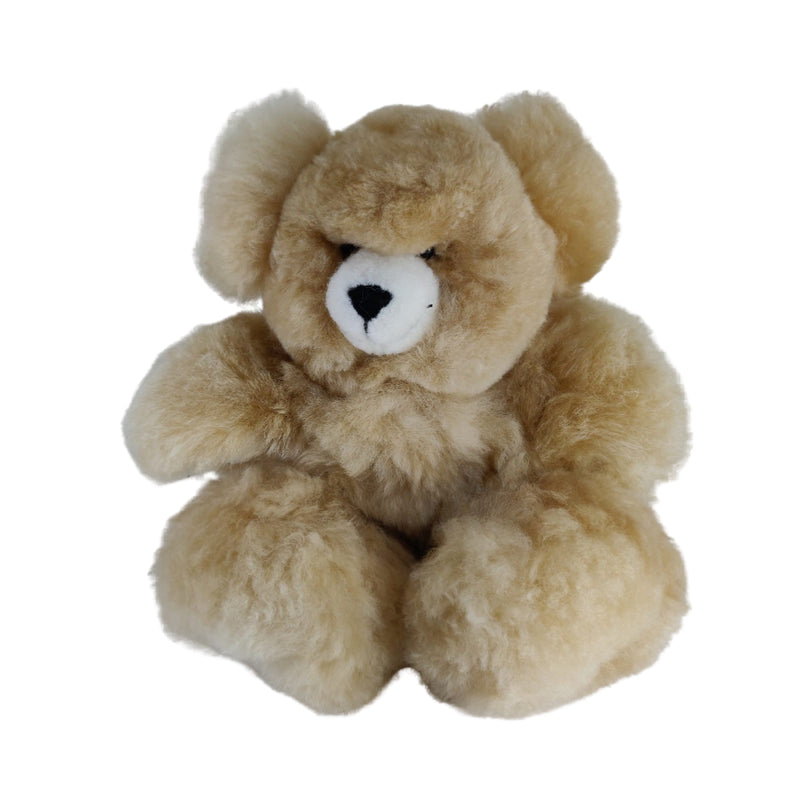 100% Baby Alpaca Fur Teddy Bear • Hand Made • Hypoallergenic & Pillow Soft • (12 Inch)