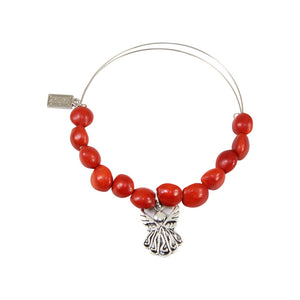 Protection Guardian Angel Charm Adjustable Bangle Bracelet