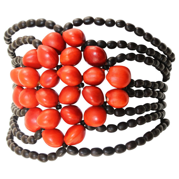 Eco-friendly Good Luck Bracelet for Women w/ Huayruro Meaningful  Red Seeds - Peru Gift Shop