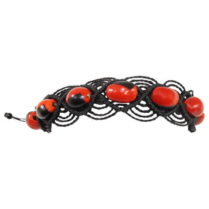 "Eco-friendly UNISEX Peruvian Gift Adjustable Bracelet for Women w/Huayruro Red Seeds 6"" - 8.5"""