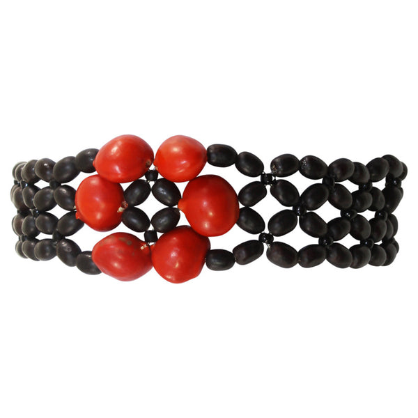 "Eco-friendly Women Good Luck Bracelet for Women w/Huayruro Red Seeds 6"" - 8.5"" - Peru Gift Shop"