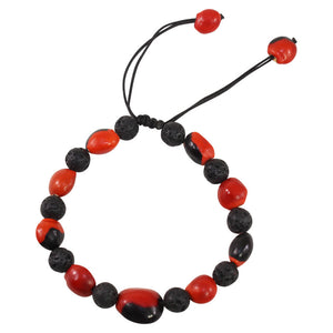 Good Luck Macrame Volcanic Stone Meaningful Unisex Bracelet