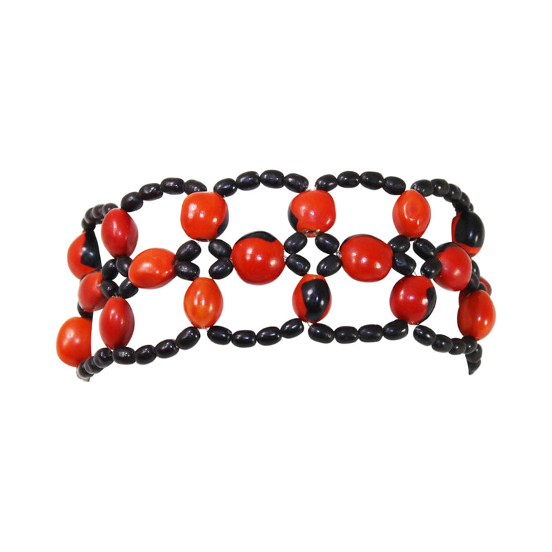 "Eco-friendly Women Good Luck Bracelet for Women with Meaningful  Huayruro Seeds 6"" - 8.5"""