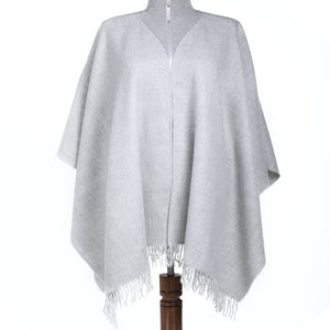 Luxury Baby Alpaca Wool Warm Poncho Knit - One Size Fits All
