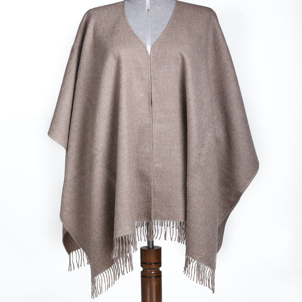 Stylish & Luxury Baby Alpaca Wool Warm Poncho Knit - One Size Fits All