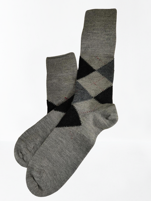 """Scottish Style"" Warm & Comfy 100% Baby Alpaca Socks"