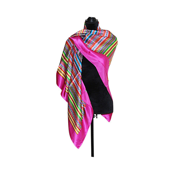 Luxury Pure Silk Reversible Shawl for Women - Peru Gift Shop