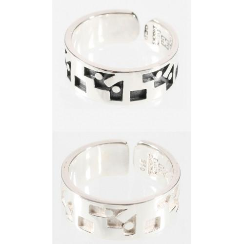 """Moschik"" Peruvian Inspired Geometric Love Exchange Unisex Sterling Silver Rings - EvelynBrooksDesigns"