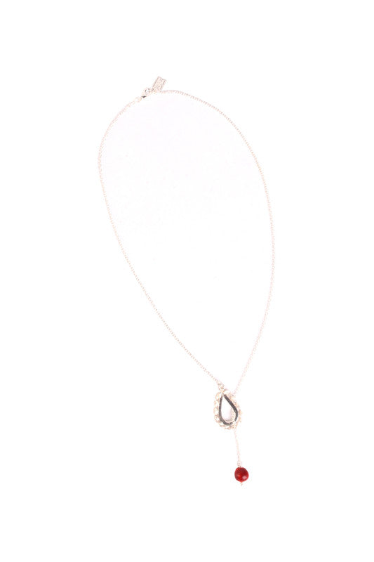Nazca Infinity Tear Drop Sterling Silver Good Luck Lariat Necklace