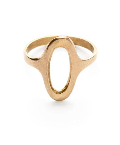 Amano Brass Oval Ring