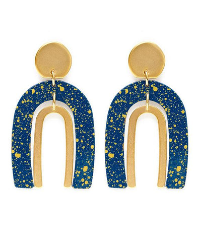 Arches in Starry Night Earrings