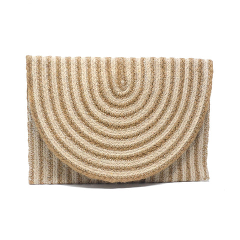 Bette Blanco Jute Clutch Bag
