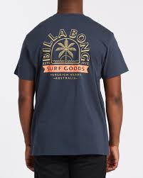 Billabong Goods Navy Tee Back Graphic