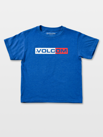 Volcom Euro Styling Little Boys Tee Blue