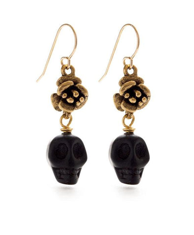Amano Flor y Muerte Drop Earrings
