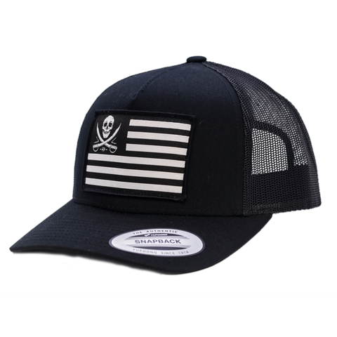 Haggard Pirate Flagged Retro Trucker Hat