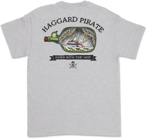 Haggard Pirate Down With The Ship Tee
