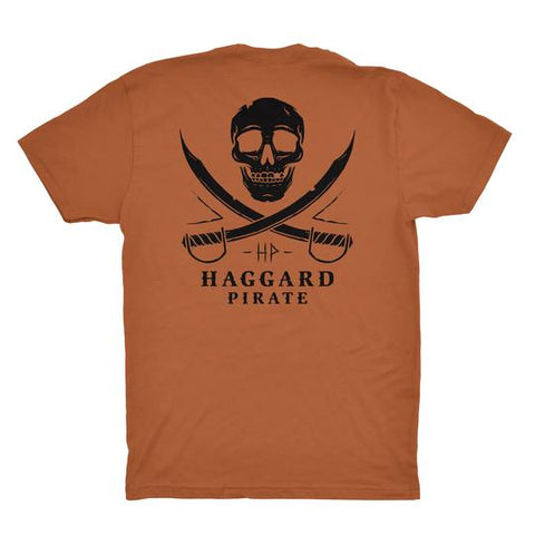 Haggard Pirate Skull & Swords Tee Copper
