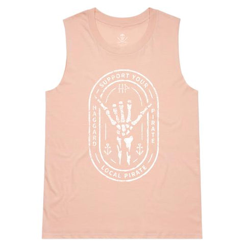 Haggard Pirate Shaka Womens Muscle Tee