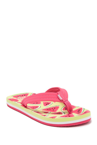 Reef Kids Ahi Beach Watermelon Girls Sandals