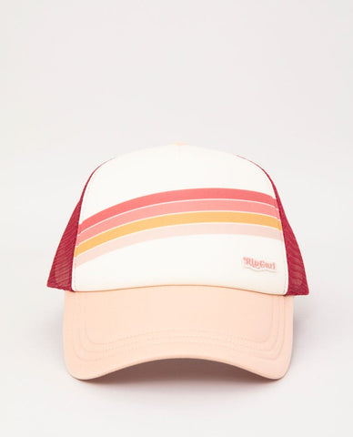 Rip Curl Sunshine Stripe Blush Trucker Hat