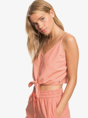 Roxy Tiny Mutinies Coral Crop Top