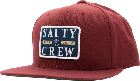 Salty Crew Boatyard 6 Panel Hat O/S