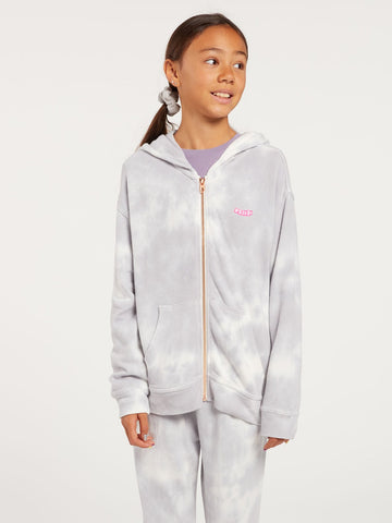 Volcom Big Girls Tie Dye Lil Fleece Zip Hoodie