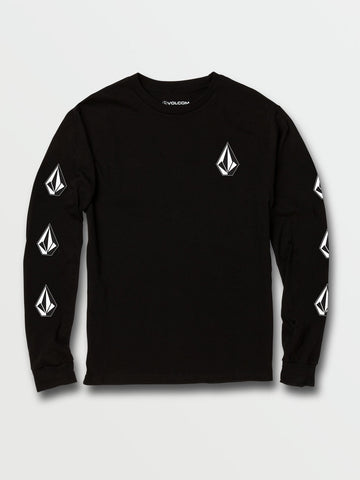 Volcom Deadly Stones Youth Black LS Tee