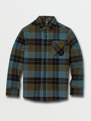 Volcom Caden Plaid Flannel Big Boys