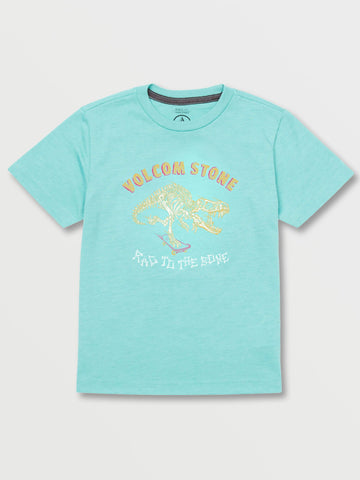 Volcom Rad to the Bone Youth Tee Turquoise Heather