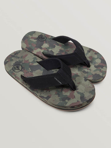 Volcom Victor Big Boys Youth Sandals Camo