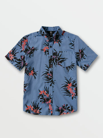 Volcom Boys Floral With Cheese Button Up