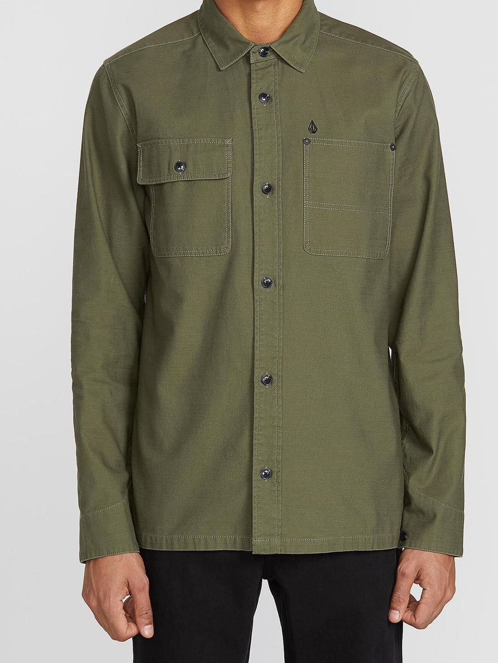 Volcom Caven Army Green L/S
