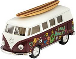 Small Pull Toy Cars w/ Surfboards
