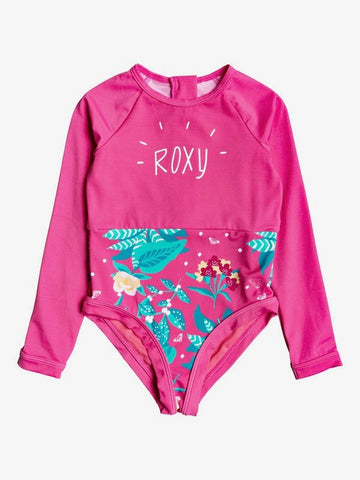 Girls Magical Sea Long Sleeve Zipped UPF 50 One-Piece Rashguard