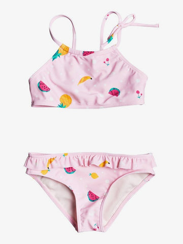 Girls Lovely Aloha Crop Top Bikini Set