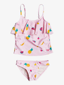 Girls Lovely Aloha Tankini Bikini Set