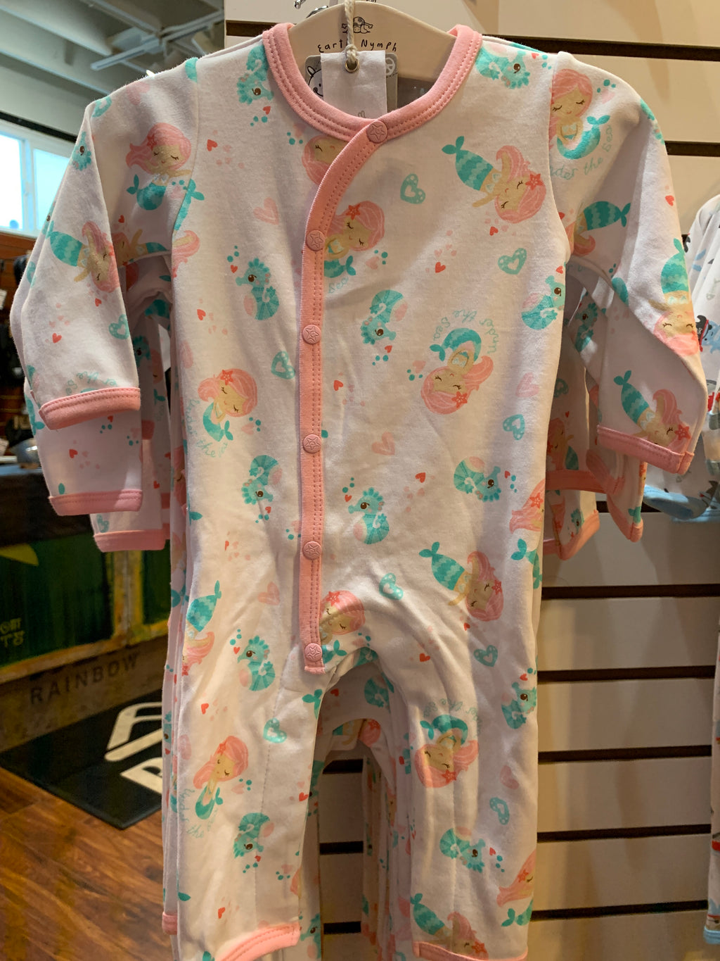 Baby G LS Romper Mermaid Fun